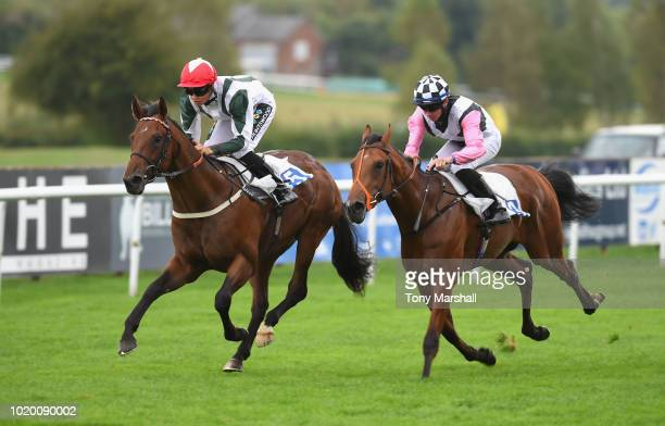 Roys Dream ridden by Patrick Vaughan wins the Charles Street Handicap Stakes during Leicester Races on August 20 2018 in Leicester England