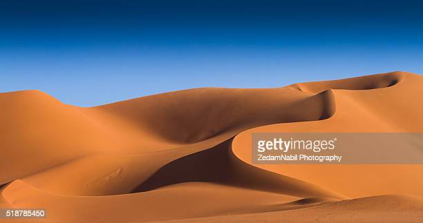 silky golden dunes (algerian sahara) - sand dune stock pictures, royalty-free photos & images