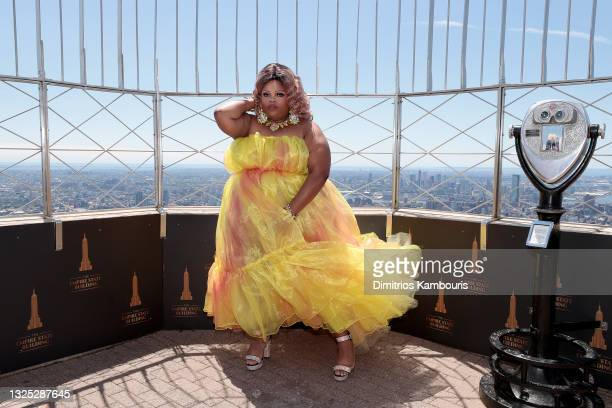"""Silky Nutmeg Ganache attends as Empire State Building hosts the cast of """"RuPaul's Drag Race All Stars"""" Season 6 on June 24, 2021 in New York City."""