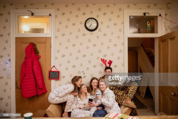 silly christmas selfies - bizarre fashion stock pictures, royalty-free photos & images