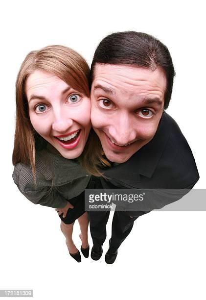 Fisheye Couple stupide