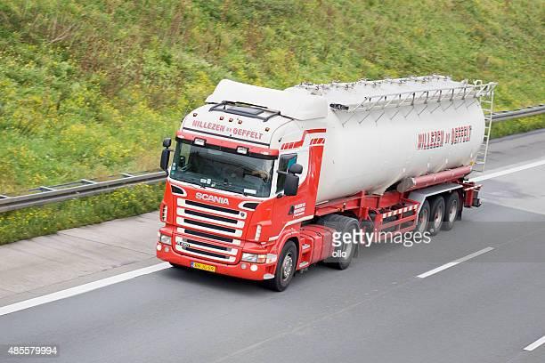 Silo truck on german Autobahn