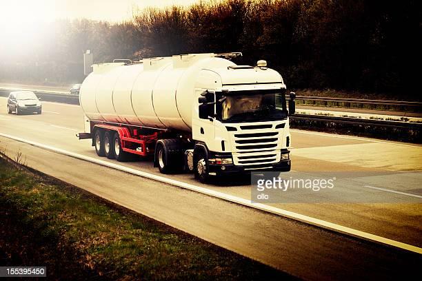 Silo truck on german highway