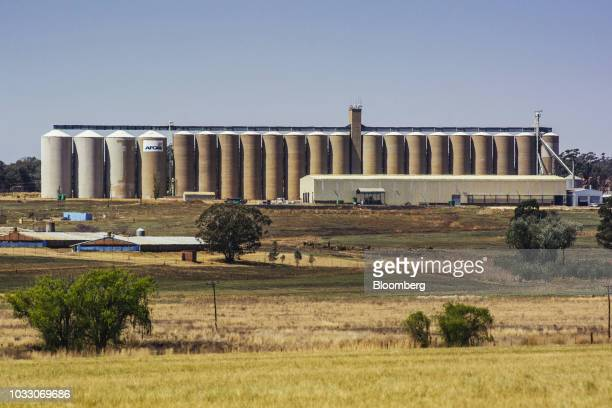 Silos stand on the Ehlerskroon farm outside Delmas in the Mpumalanga province South Africa on Thursday Sept 13 2018 A legal battle may be looming...