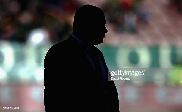 A silouette of Wallaby coach Ewen McKenzie during The Rugby Championship match between the South African Springboks and the Australian Wallabies at...
