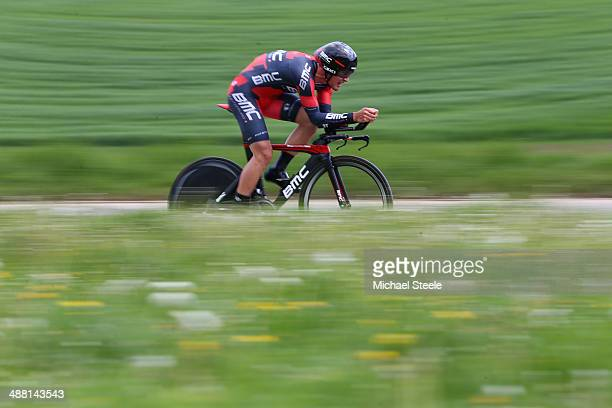 Silvan Dillier of Switzerland and BMC Racing Team during stage five of the Tour de Romandie 185km individual time trial from Neuchatel to Neuchatel...