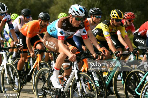 Silvan Dillier of Switzerland and Team Ag2R La Mondiale /Bert-Jan Lindeman of The Netherlands and Team Jumbo-Visma / during the 66th Vuelta a...