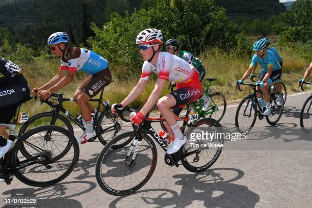 Silvan Dillier of Switzerland and Team AG2R La Mondiale / Jesper Hansen of Denmark and Team Cofidis Solutions Credits / Gonzalo Serrano of Spain and...