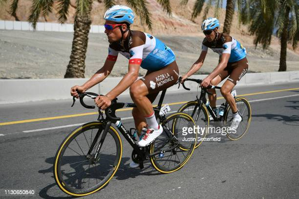 Silvan Dillier of Switzerland and Team AG2R La Mondiale / Stijn Vandenbergh of Belgium and Team AG2R La Mondiale / during the 10th Tour of Oman 2019...