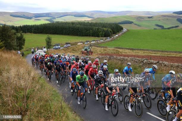 Silvan Dillier of Switzerland and Team Alpecin-Fenix, Jacob Scott of United Kingdom and Team Canyon DHB Sungod green mountain jersey, Sean Bennett of...