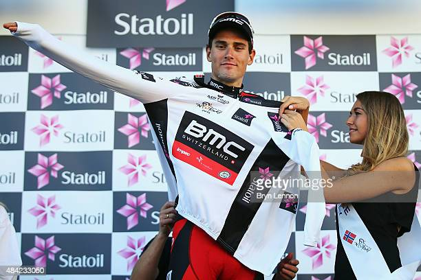 Silvan Dillier of Switzerland and the BMC Racing Team also won the white best young rider jersey on stage four of the 2015 Arctic Race of Norway a...