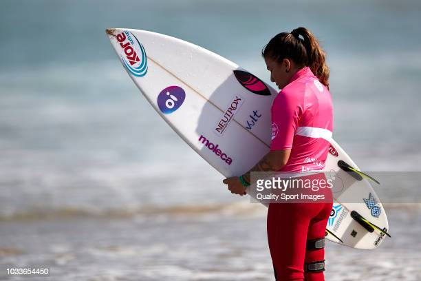 Silvana Lima of Brazil looks on during sixth day of Pantin Classic Galicia Pro at Pantin Beach on September 2 2018 in A Coruna Spain