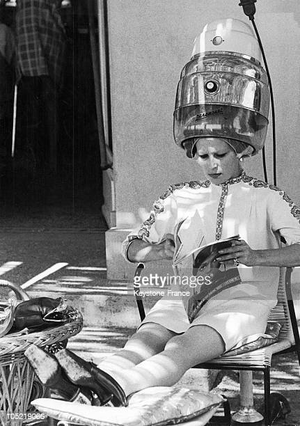 Silvana Mangano At The Hairdresser In MonteCarlo 1968