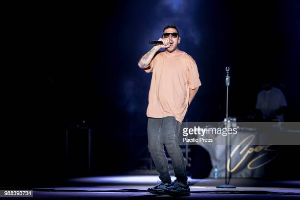 Silvano Albanese aka Coez singersongwriter and rapper Italiano in a concert long awaited in Naples at the Arena Flegrea at Noisy Naples Fest 2018