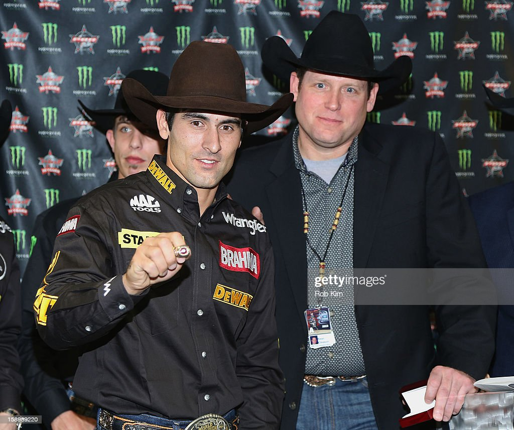 Silvano Alves (L) and Sean Gleason attend The Professional Bull Riders 2013 Monster Energy Invitational VIP Party at Madison Square Garden on January 4, 2013 in New York City.