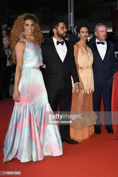 "Silveiro Peirera, Thomas Aquino, Barbara Colen and Udo Kier attend the screening of ""Bacurau"" during the 72nd annual Cannes Film Festival on May 15,..."