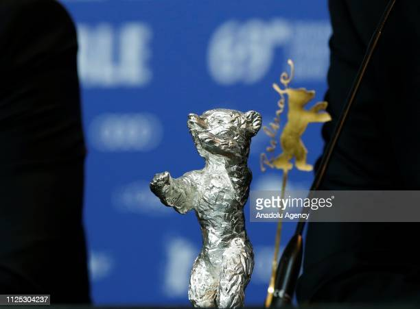 Silver Bear is seen during the 69th Berlinale International Film Festival in Berlin, Germany on February 16, 2019.