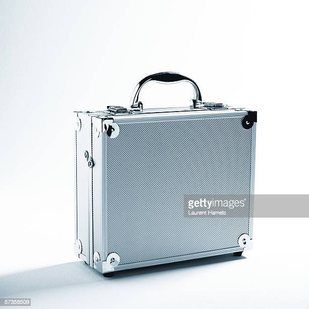 silver case - briefcase stock photos and pictures