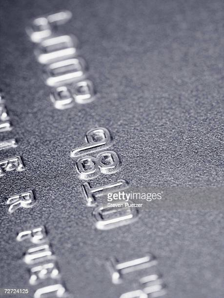 Silver credit card, close-up