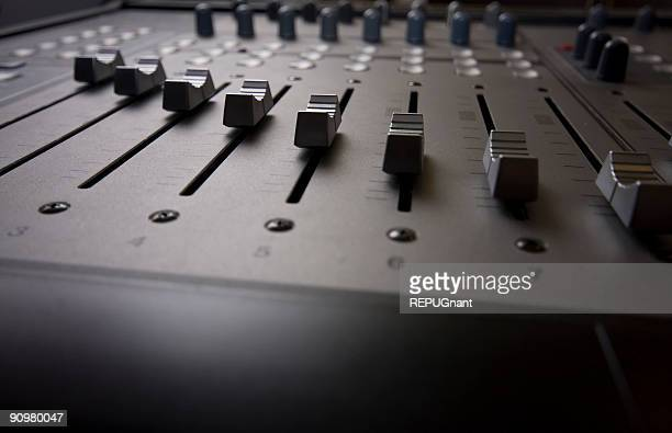 Silver Digital Audio Mixer