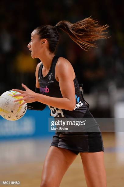 Silver Fern Maria Tutaia during the 2017 Constellation Cup match between the Australia Diamonds and New Zealand Silver Ferns at Titanium Security...