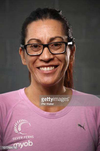 Silver Ferns coach Noeline Taurua poses for a portrait during the Silver Ferns Northern Netball Quad Series Team Announcement at the Spencer On Byron...