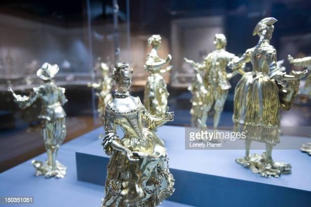 silver figurines, museu nacional de arte antiga museum of art antiques), santos. - arte stock pictures, royalty-free photos & images