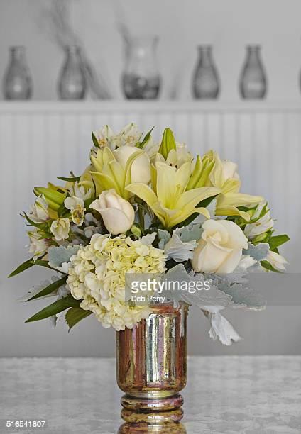 Silver floral arrangement