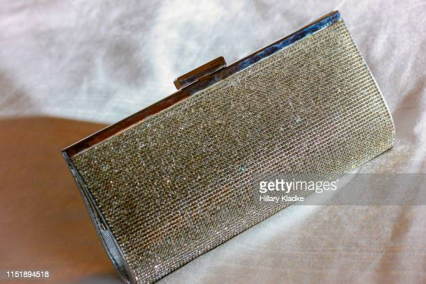 silver gemstone clutch - rhinestone stock pictures, royalty-free photos & images