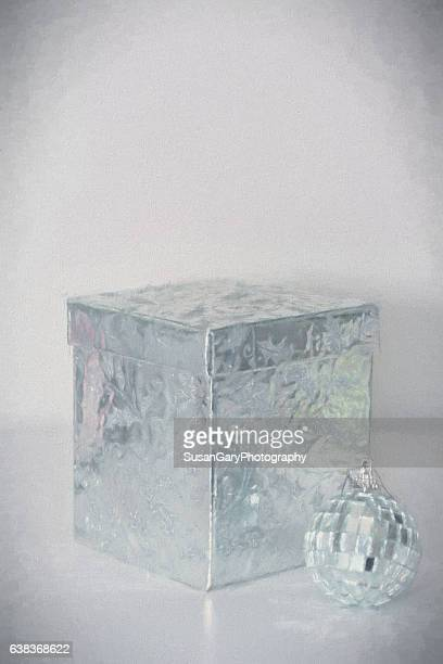Silver Gift Box and Ornament