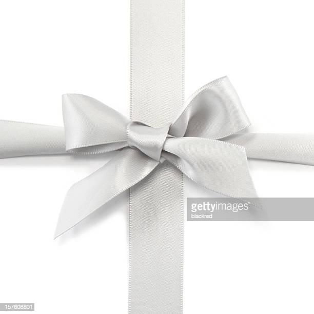 Silver Gift Ribbon Bow