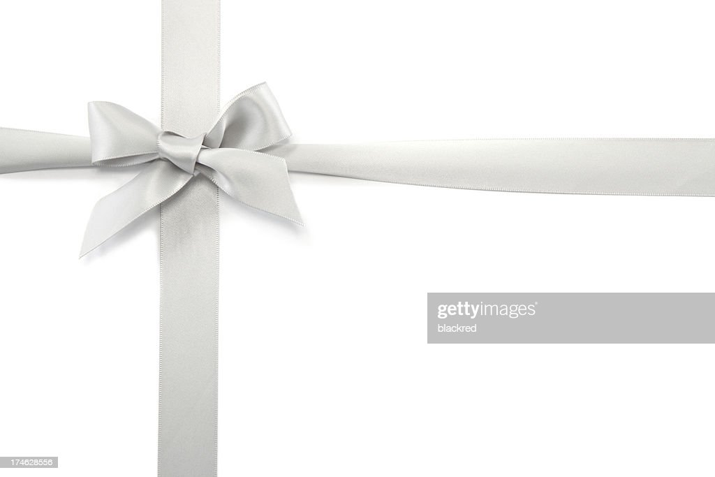 Silver gift ribbon bow stock photo getty images silver gift ribbon bow stock photo negle Choice Image