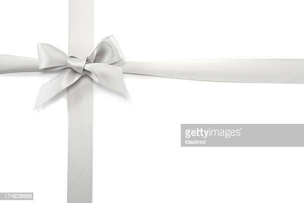 Silver Gift Ribbon & Bow