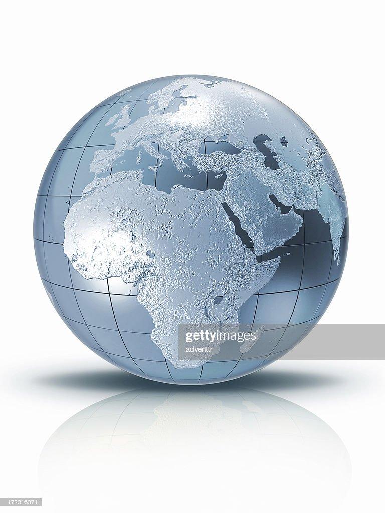 Silver globe : Stock Photo