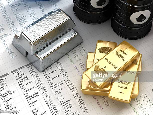 silver, gold and oil - silver metal stock pictures, royalty-free photos & images
