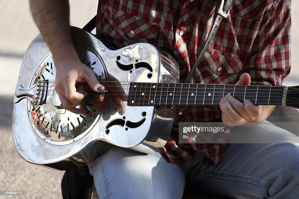 Silver Guitar : Stock Photo