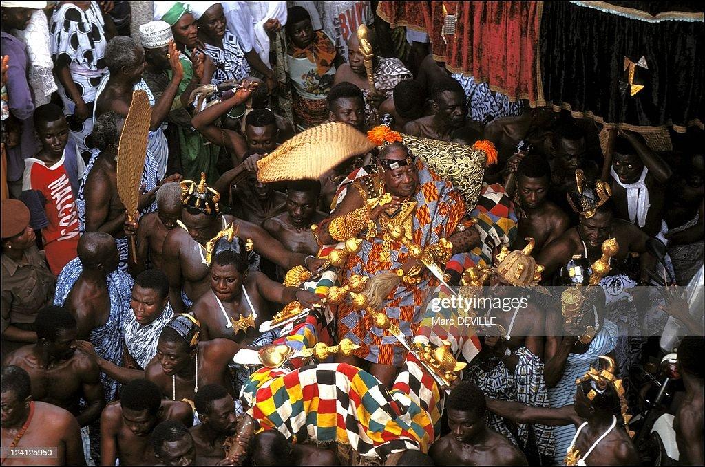 Silver Jubilee Of Ashantis King, Otumfo Opoku Ii In Kumasi, Ghana On August 14, 1995. : News Photo