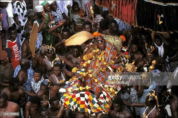 Silver Jubilee of Ashantis king Otumfo Opoku II In Kumasi Ghana On August 14 1995