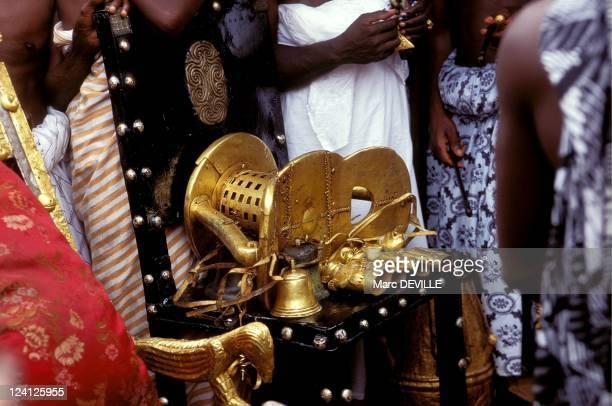 Silver Jubilee of Ashantis king Otumfo Opoku II In Kumasi Ghana On August 14 1995 The golden stool