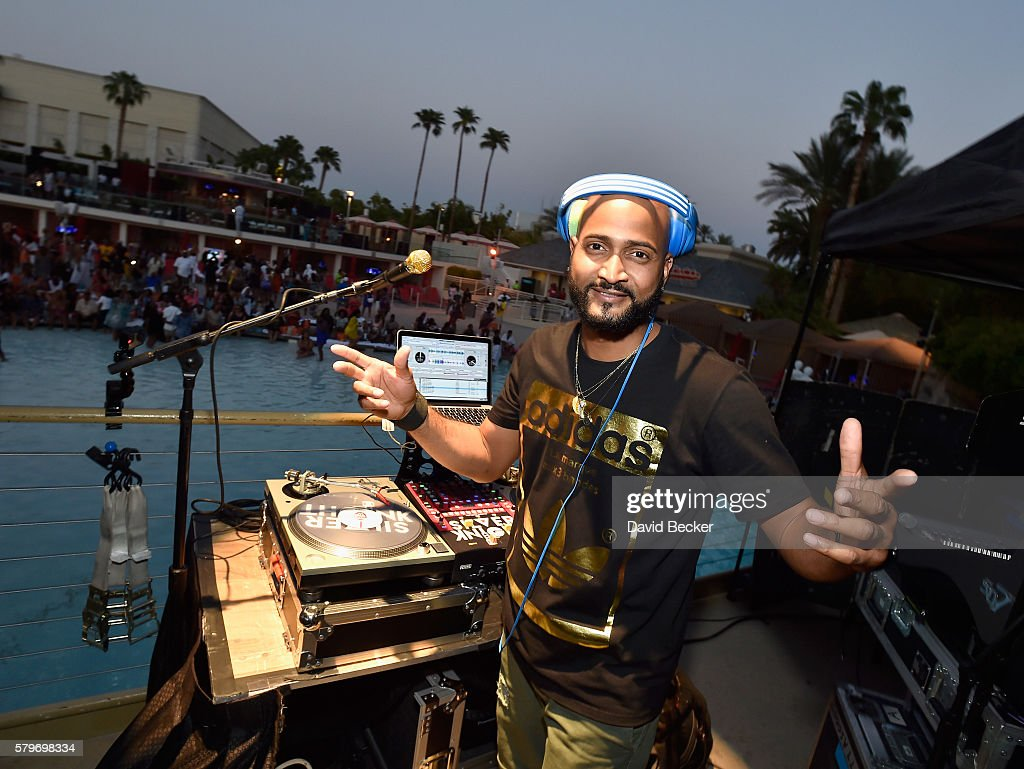 DJ Silver Knight performs during the Neighborhood Awards Beach Party at the Mandalay Bay Beach at the Mandalay Bay Resort and Casino on July 24, 2016 in Las Vegas, Nevada.