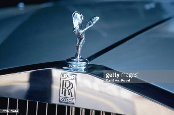 silver lady emblem on a rolls royce bonnet, monte carlo - hood ornament stock pictures, royalty-free photos & images