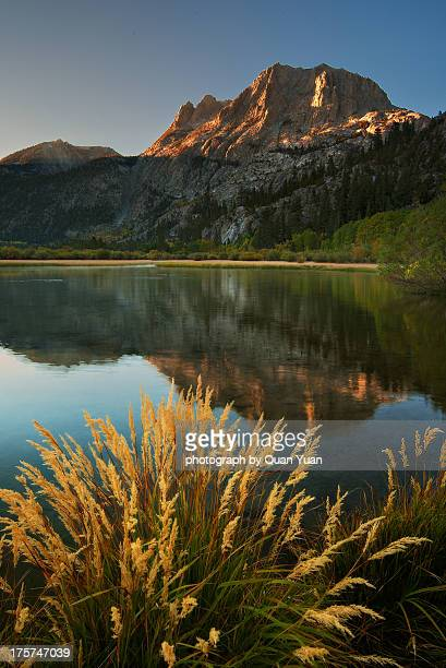 silver lake sunrise - yuan quan stock pictures, royalty-free photos & images