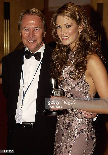 Silver Logie winner Actress/Singer Delta Goodrem for Most Popular New Female Talent and her manager Glenn Wheatley pose at the Australian TV Week...