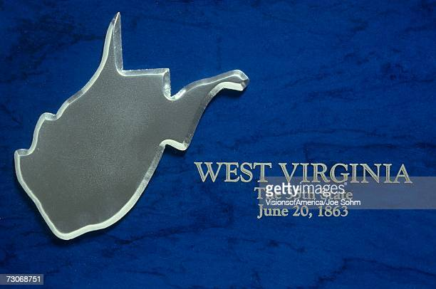 silver map of west virginia - protohistory_of_west_virginia stock pictures, royalty-free photos & images