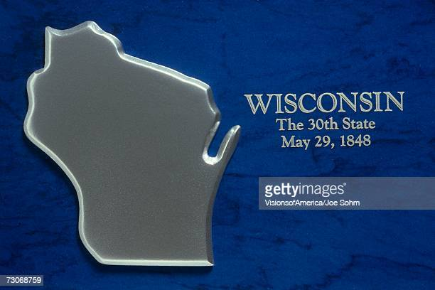 silver map of wisconsin - iron_county,_wisconsin stock pictures, royalty-free photos & images