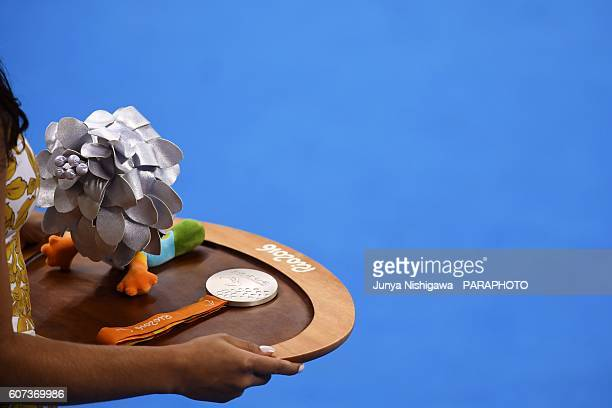 Silver medal of the Rio 2016 Paralympic Games at Olympic Aquatics Stadium on September 17 2016 in Rio de Janeiro Brazil