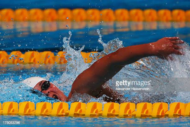 Silver medal winner Lotte Friis of Denmark competes in the Swimming Women's 1500m Freestyle Final on day eleven of the 15th FINA World Championships...