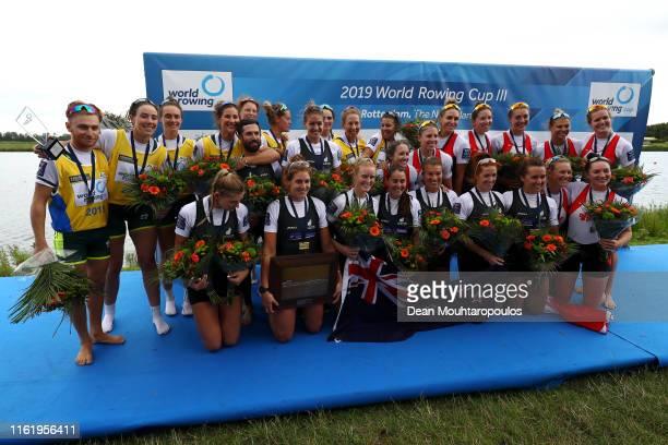 Silver medal winners Leah Saunders Jacinta Edmunds Bronwyn Cox Georgina Rowe Rosemary Popa Annabelle Mcintyre Jessica Morrison Molly Goodman and...
