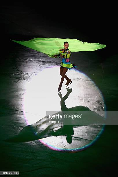 Silver medalist Adelina Sotnikova of Russia performs during Lexus Cup of China ISU Grand Prix of Figure Skating 2013 at Beijing Capital Gymnasium on...