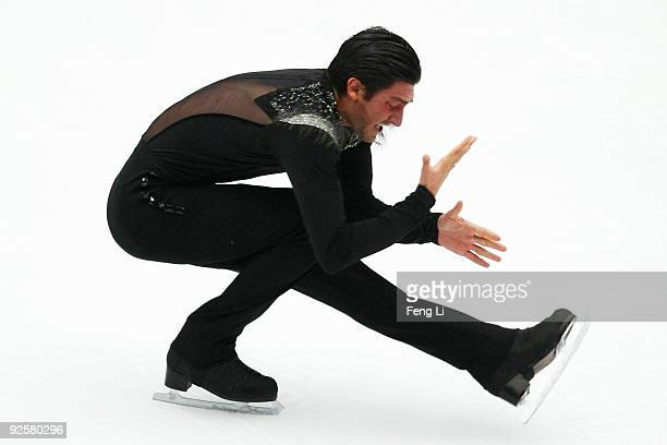 Silver medalist Evan Lysacek of USA skates in the Men Free Skating during the Cup of China ISU Grand Prix of Figure Skating 2009 at Beijing Capital...